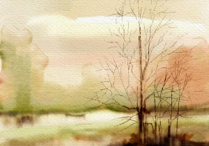 300x210 Watercolor Landscape Simple Watercolor Landscape Simple How To