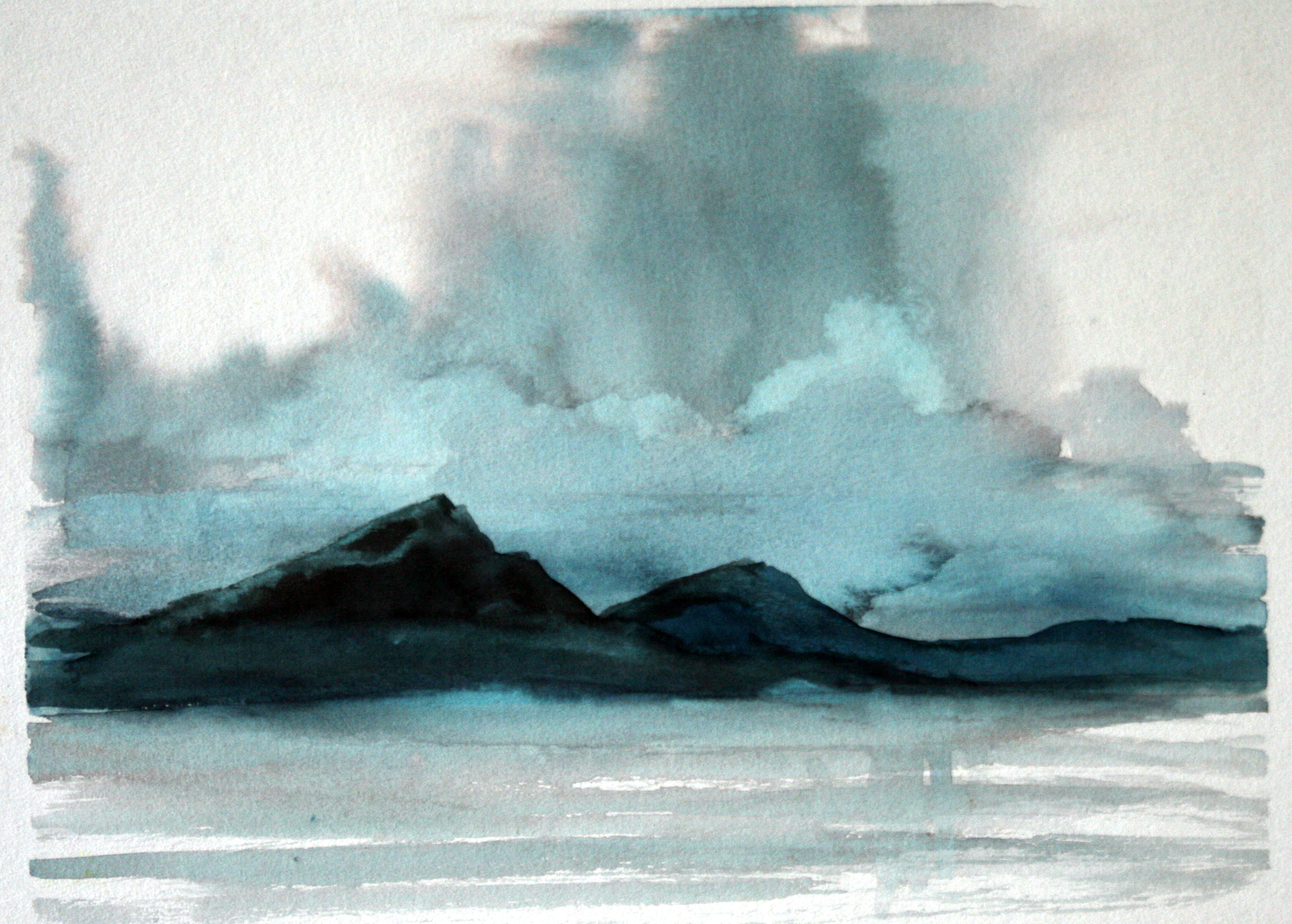 3274x2342 Mountain Watercolor Paintings