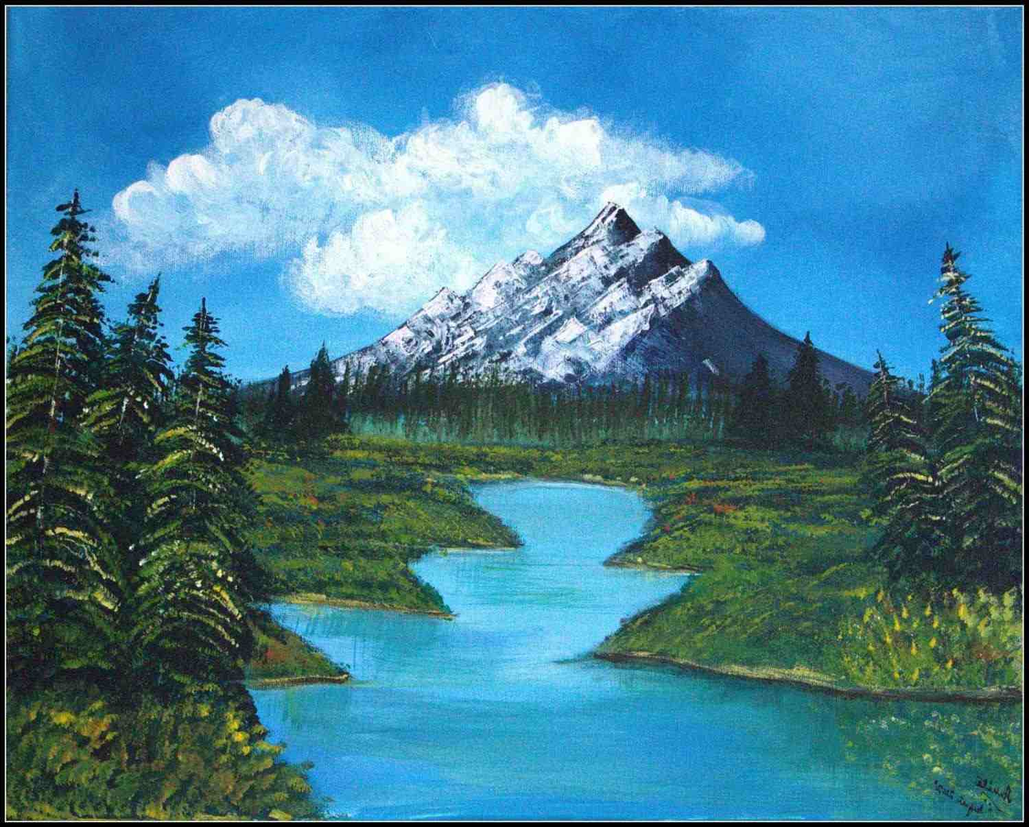 1500x1206 Paint This Mountain Watercolor Painting In 3 Easy Steps
