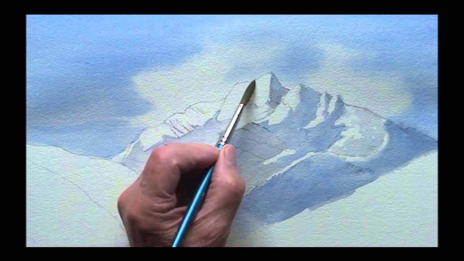 1920x1080 Painting Mountains In Watercolor