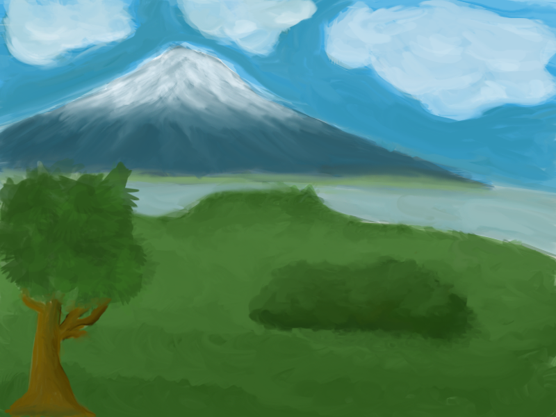 800x600 Simple Mountain Painting