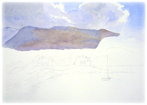 500x357 Simple Watercolor Mountains