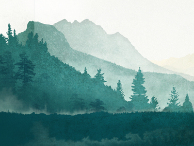 400x300 A Distant Mountain Inspiration Watercolor