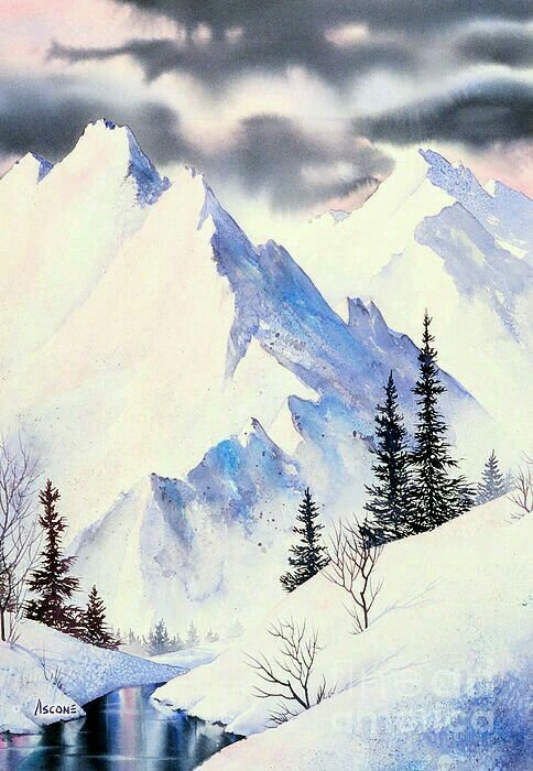 484x700 Water Color Sugar Mountain Water, Watercolor And