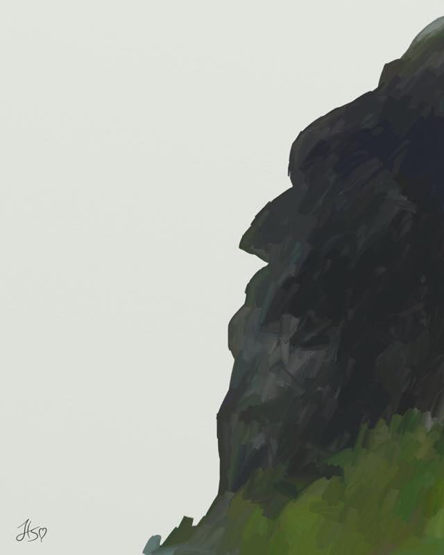 640x800 Ipad Paintings, Landscape Artrage, Mountain, North Carolina
