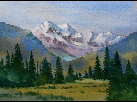 480x360 Beginners Mountain Watercolor