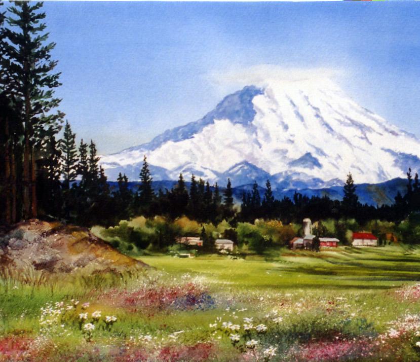 829x714 Daniel Smith Seattle Art Store Events Watercolor Mountain