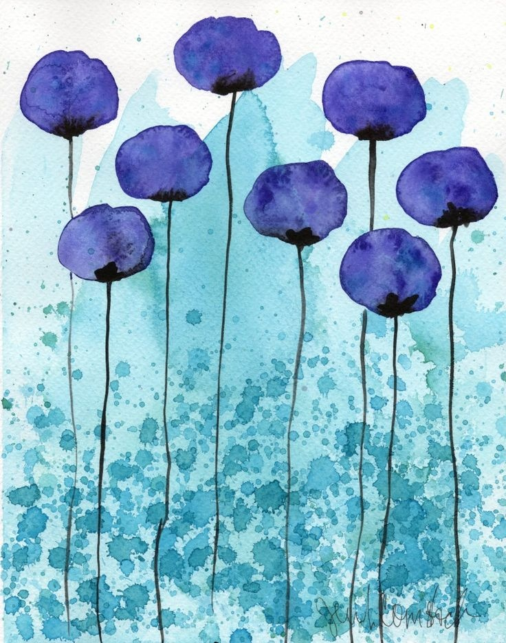 Simple Watercolor Paintings At Getdrawings Com Free For Personal