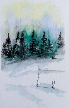 236x370 40 Simple Watercolor Painting Ideas Discover More Ideas About