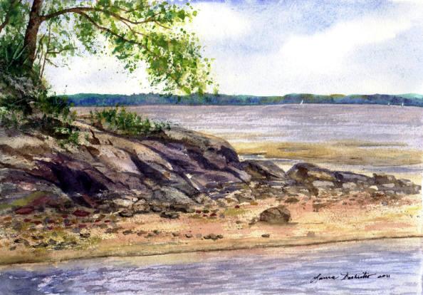 594x414 Original Watercolor Paintings By Laura Tasheiko, Maine Artist