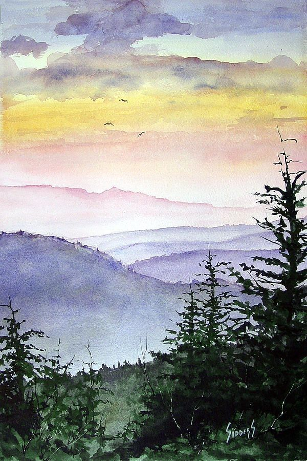 Simple Watercolor Paintings Of Nature At Getdrawingscom Free For
