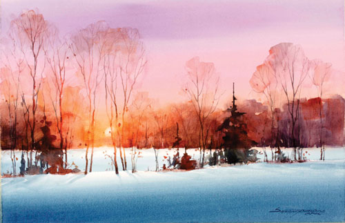 500x323 Paint A Sunset In 10 Simple Steps A Watercolor Demo