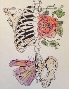 Skeleton Watercolor