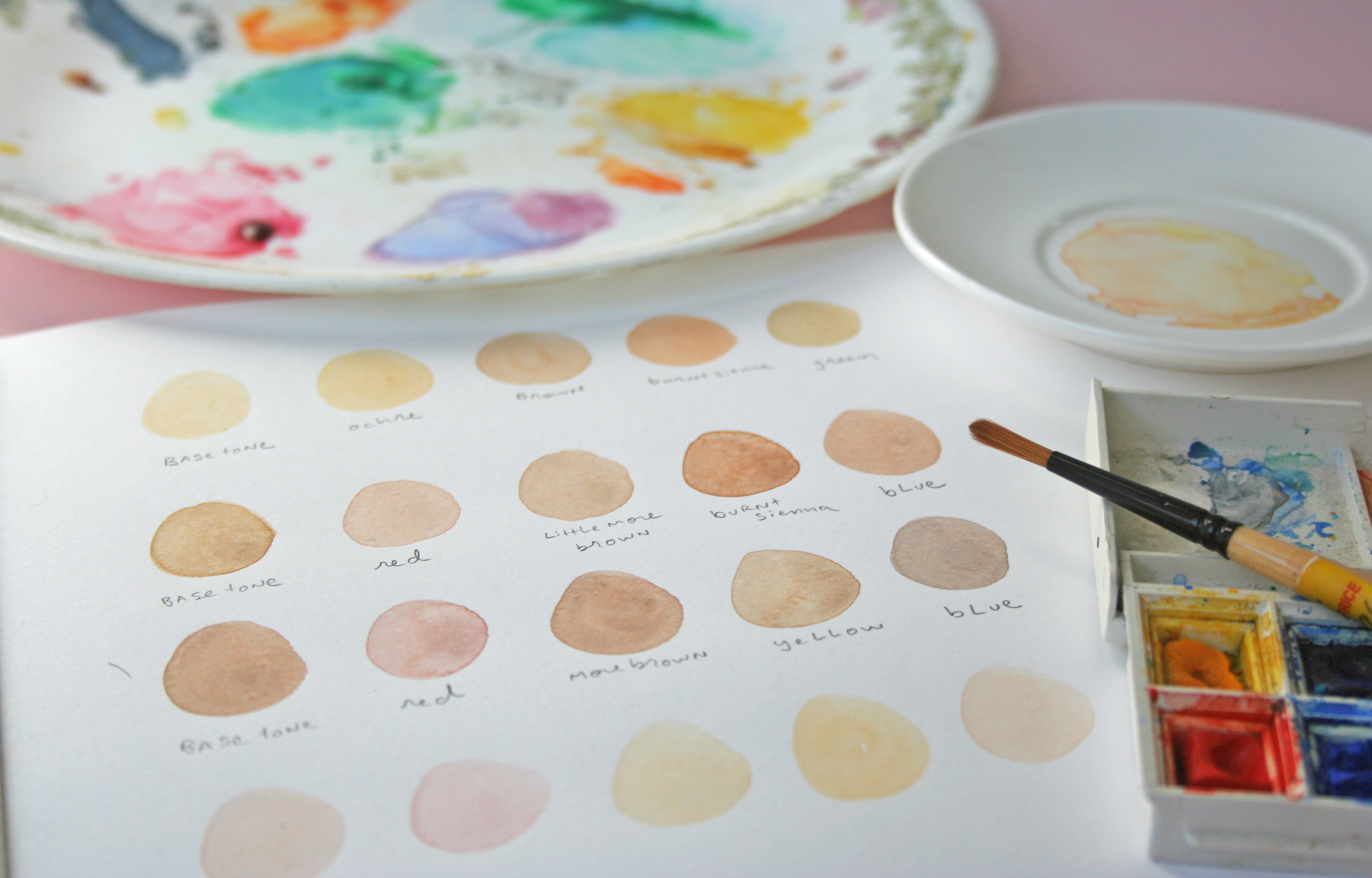 3213x2056 How To Paint Realistic Skin Tones In Watercolor