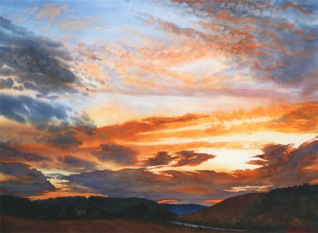 1024x750 How To Paint Realistic Clouds In Watercolor