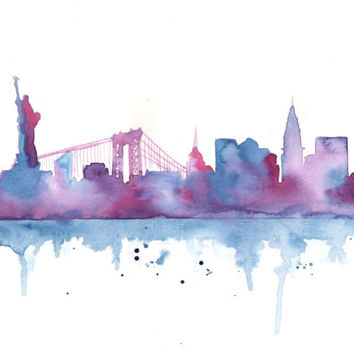 354x354 Shop City Skyline Painting On Wanelo
