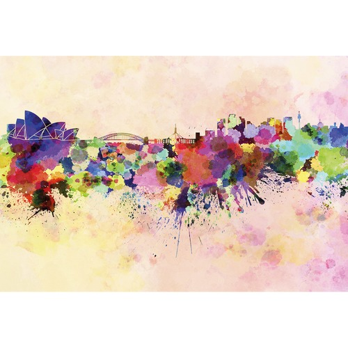 500x500 Skyline Watercolour Canvas Temple Amp Webster