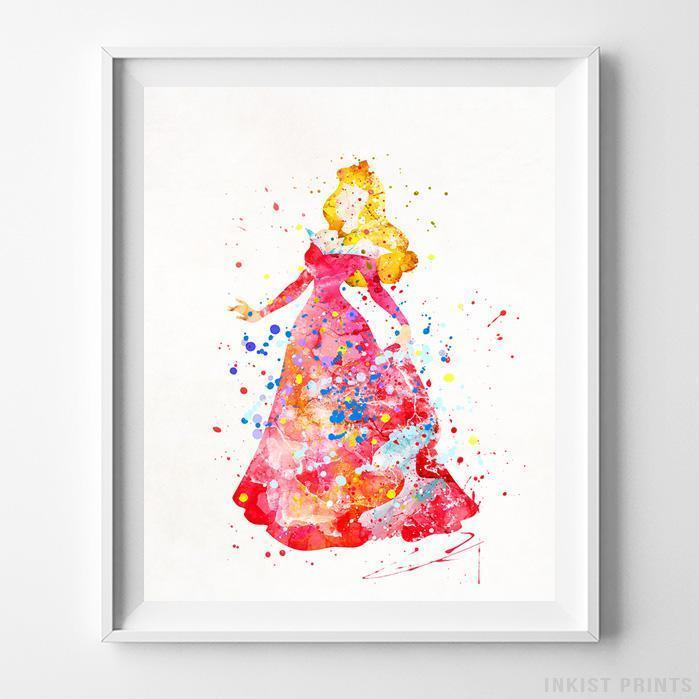 699x699 Aurora Sleeping Beauty Type 3 Wall Art Disney Watercolor Poster