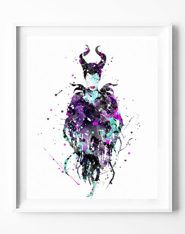 600x761 Disney Maleficent Art Print Sleeping Beauty Poster Princess