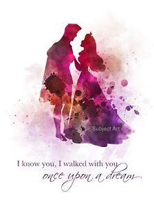 224x300 Art Print Sleeping Beauty, Aurora Quote, Nursery, Disney Princess
