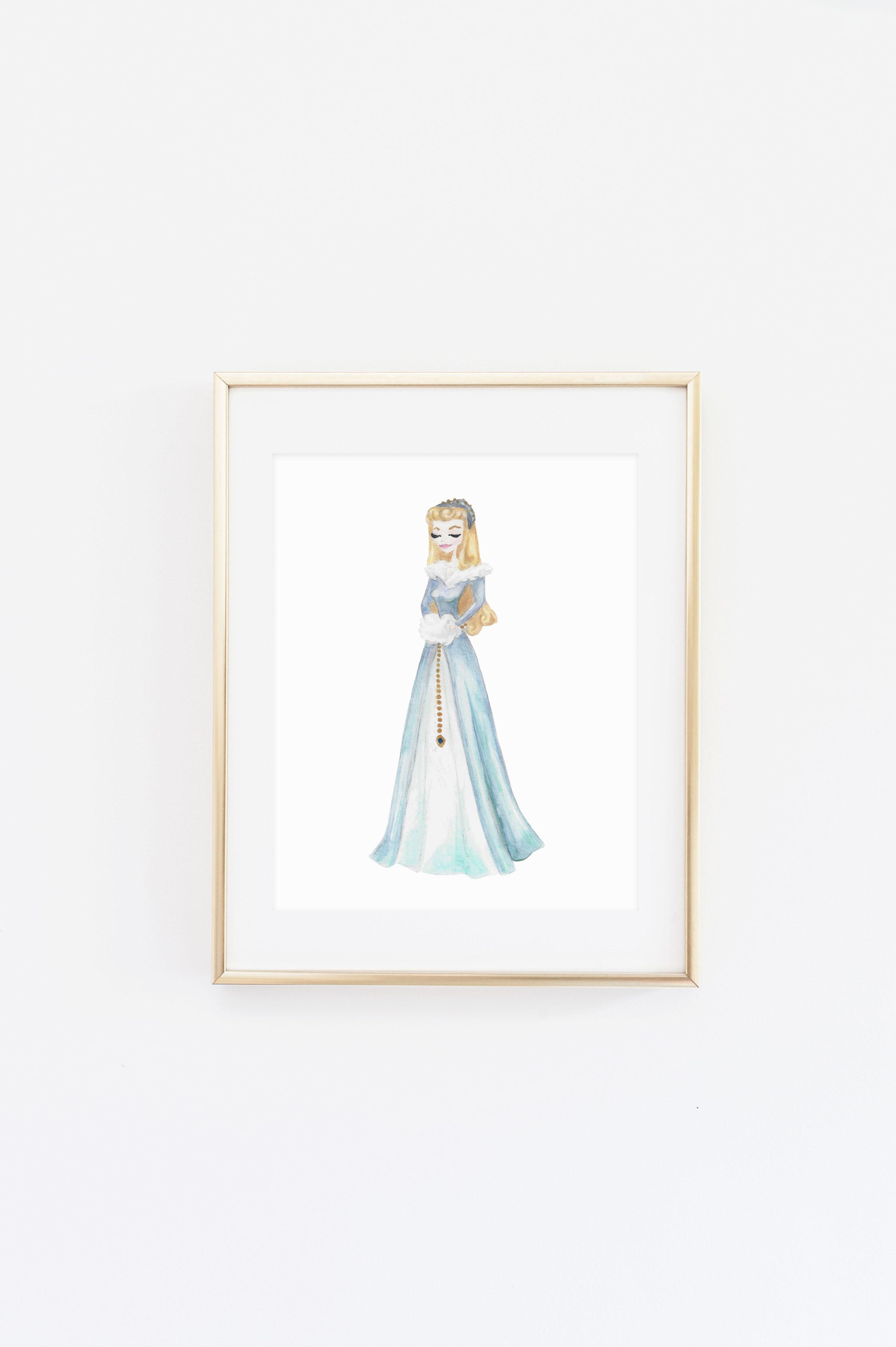 2462x3700 Sleeping Beauty 3 Watercolor Print Little Moon Dance Online