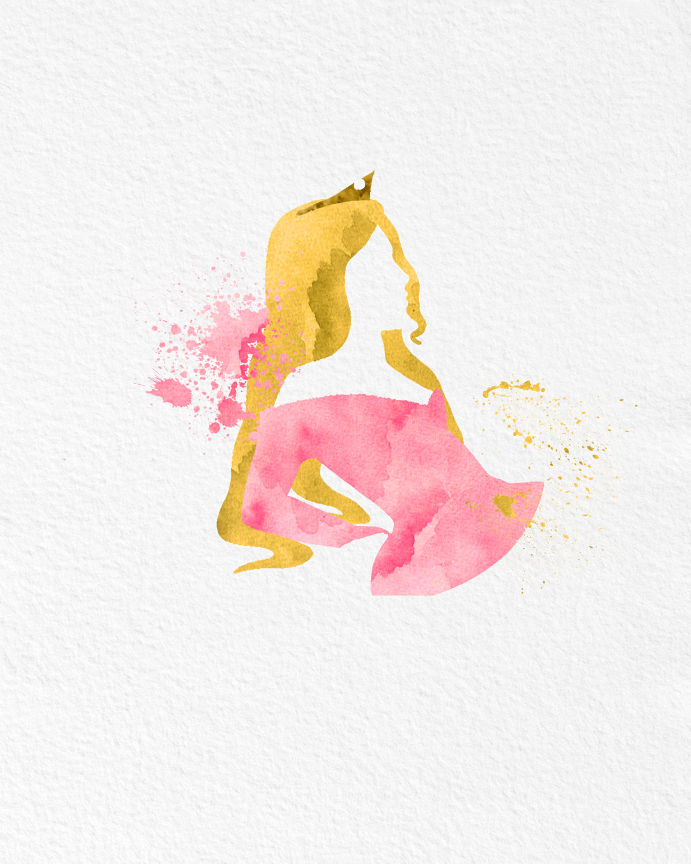1200x1500 Watercolor Art Sleeping Beauty Gift Modern 8x10 Wall Art Decor