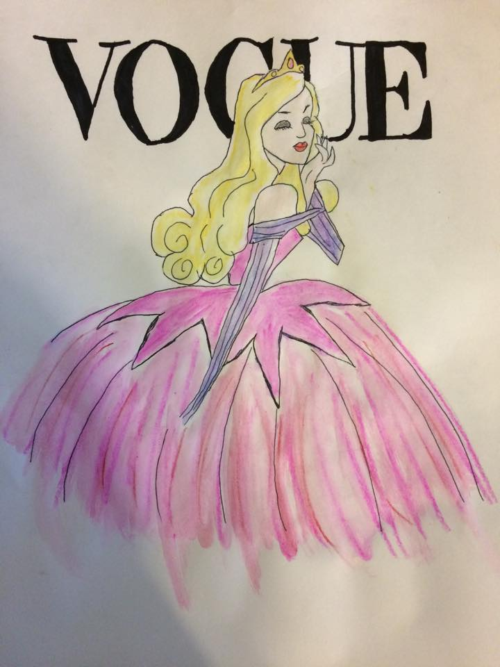 720x960 Watercolor Pencils Sleeping Beauty By Susijumala