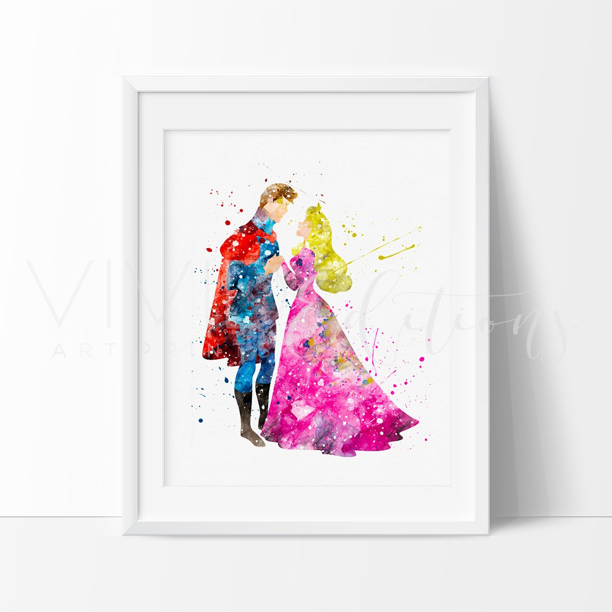 1200x1200 Aurora Sleeping Beauty Princess Nursery Art Print