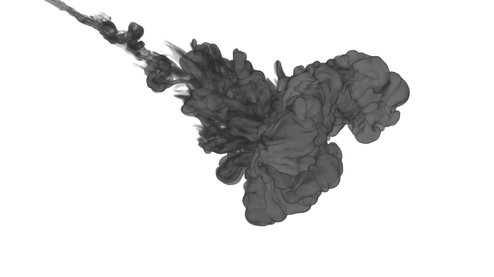 1920x1080 Ink Background For Compositing. Grey Smoke Or Ink In Water Series