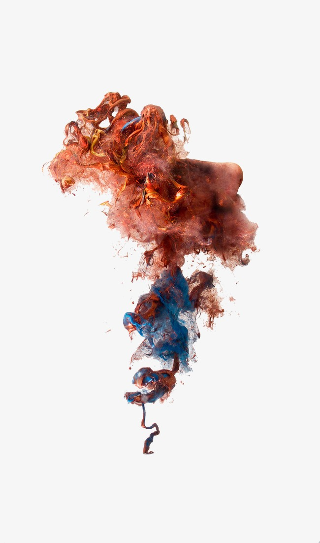 650x1102 Creative Color Smoke Effects, Red Brown, Smoke Bomb, Corn Flour