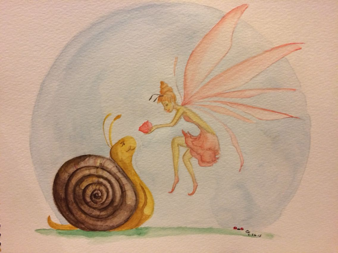 1136x852 Moon Gifts, My Fairy And Snail Watercolor, Crystal Phillips