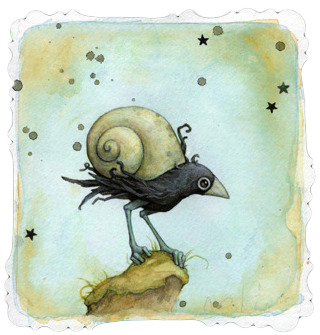 320x335 Snail Two Watercolor By Leontine Greenberg Trampt Library