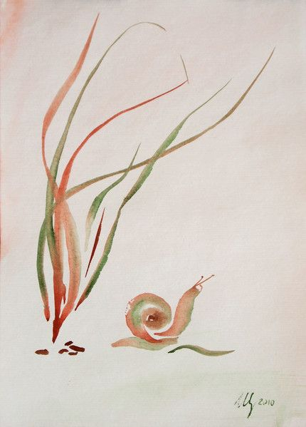 430x599 Snail Watercolor My Kind Of Art That I Like Snail