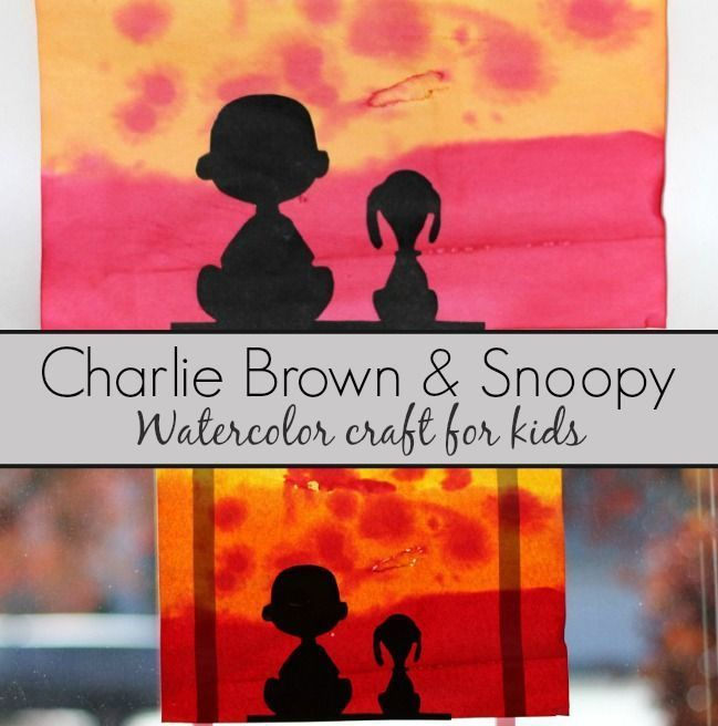 649x656 Charlie Brown And Snoopy Watercolor Craft For Kids! Explore Color