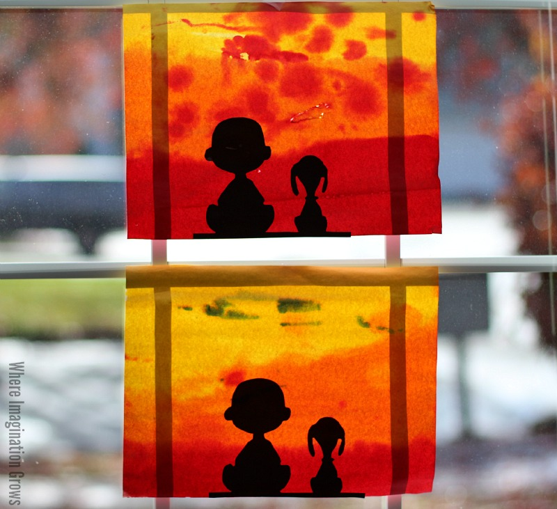 800x731 Easy Watercolor Charlie Brown Craft For Kids!