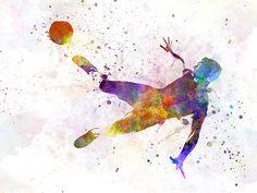236x177 Watercolor Soccer Poster 16 X 20 Soccer Poster, Soccer Skills