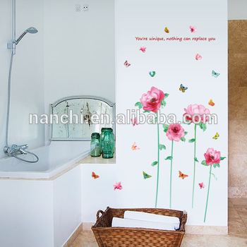 350x350 Pink Flowers Watercolor Porch Sofa Living Room Corridor Bedroom Tv