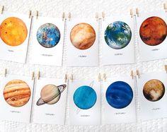 Solar System Watercolor