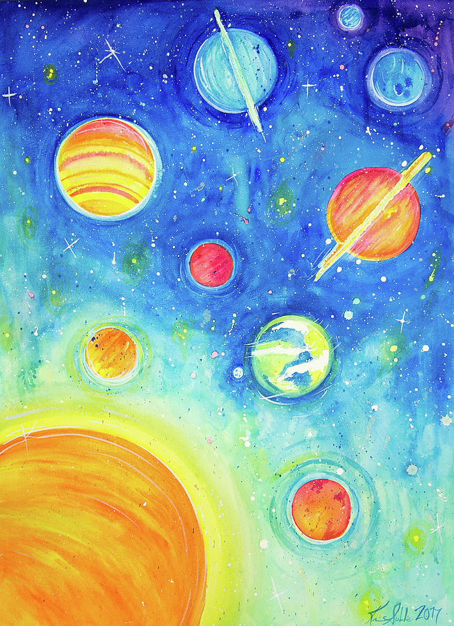 653x900 Our Solar System Painting By Kristen Soble