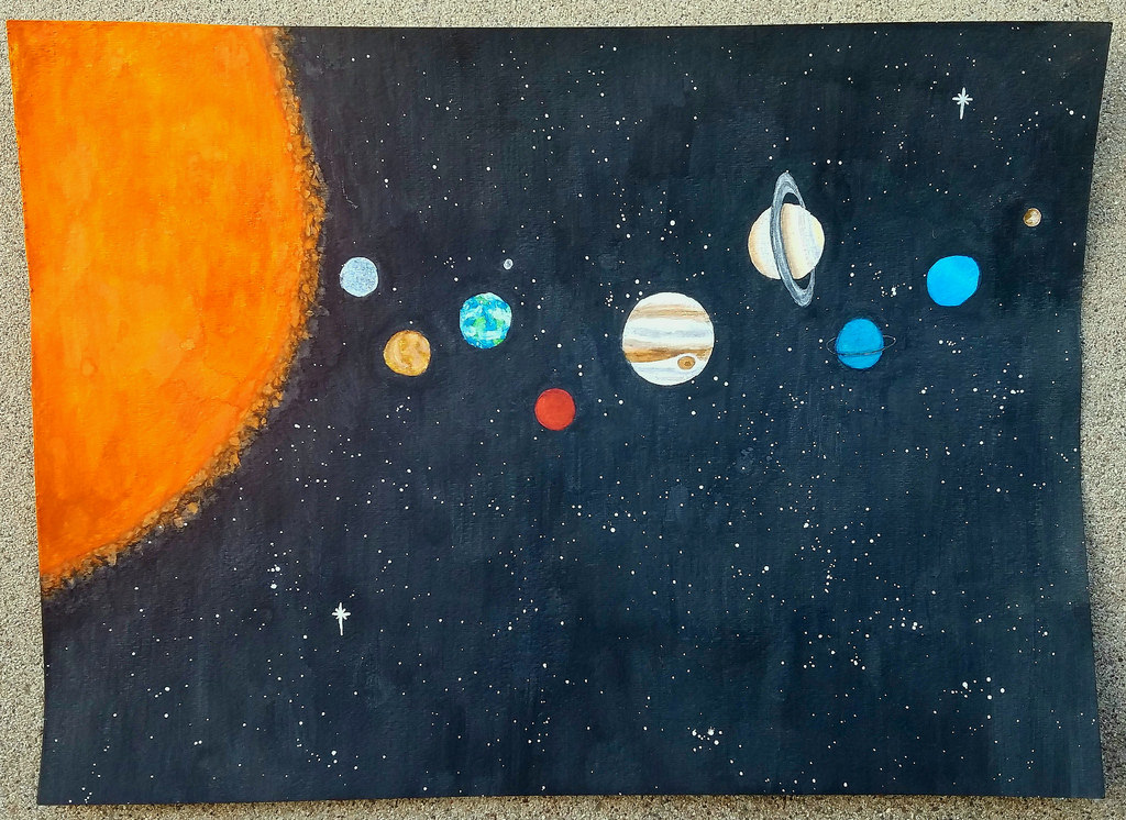 1024x746 Solar System Watercolor Painting I Just Finished
