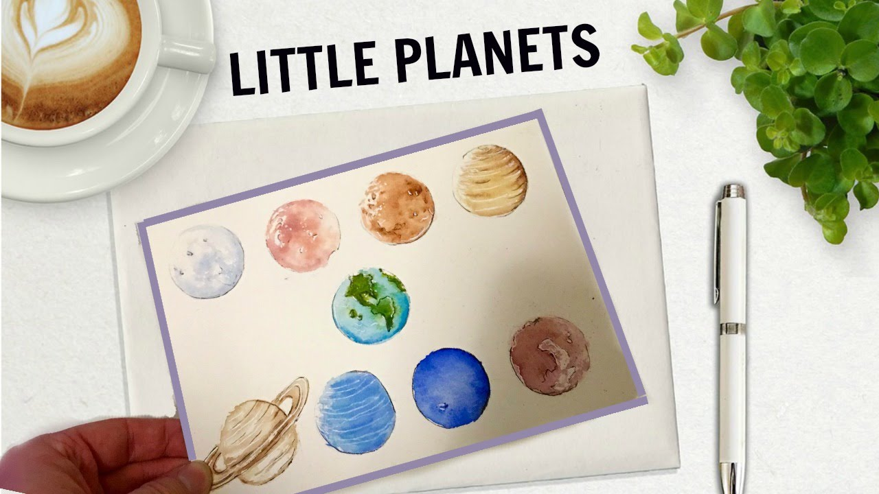 1280x720 Little Planets Amp Solar System Watercolor + Gouache Speed Painting