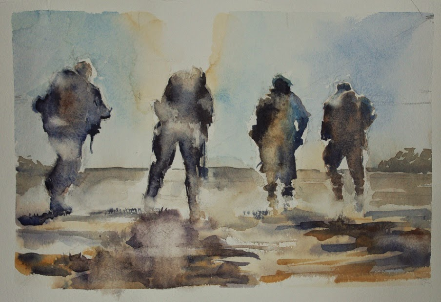 904x618 Nicola Dalbenzio American Soldier Watercolor Series