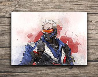 340x270 Soldier Watercolor Etsy