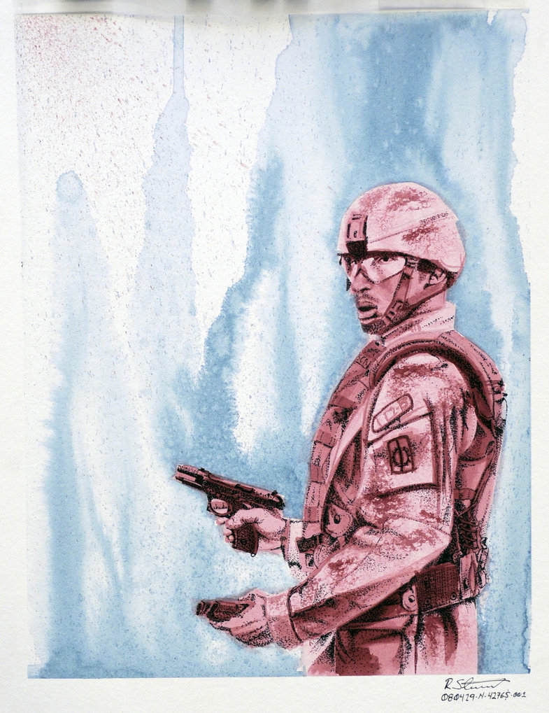 785x1019 Watercolor Soldier By Deemwun