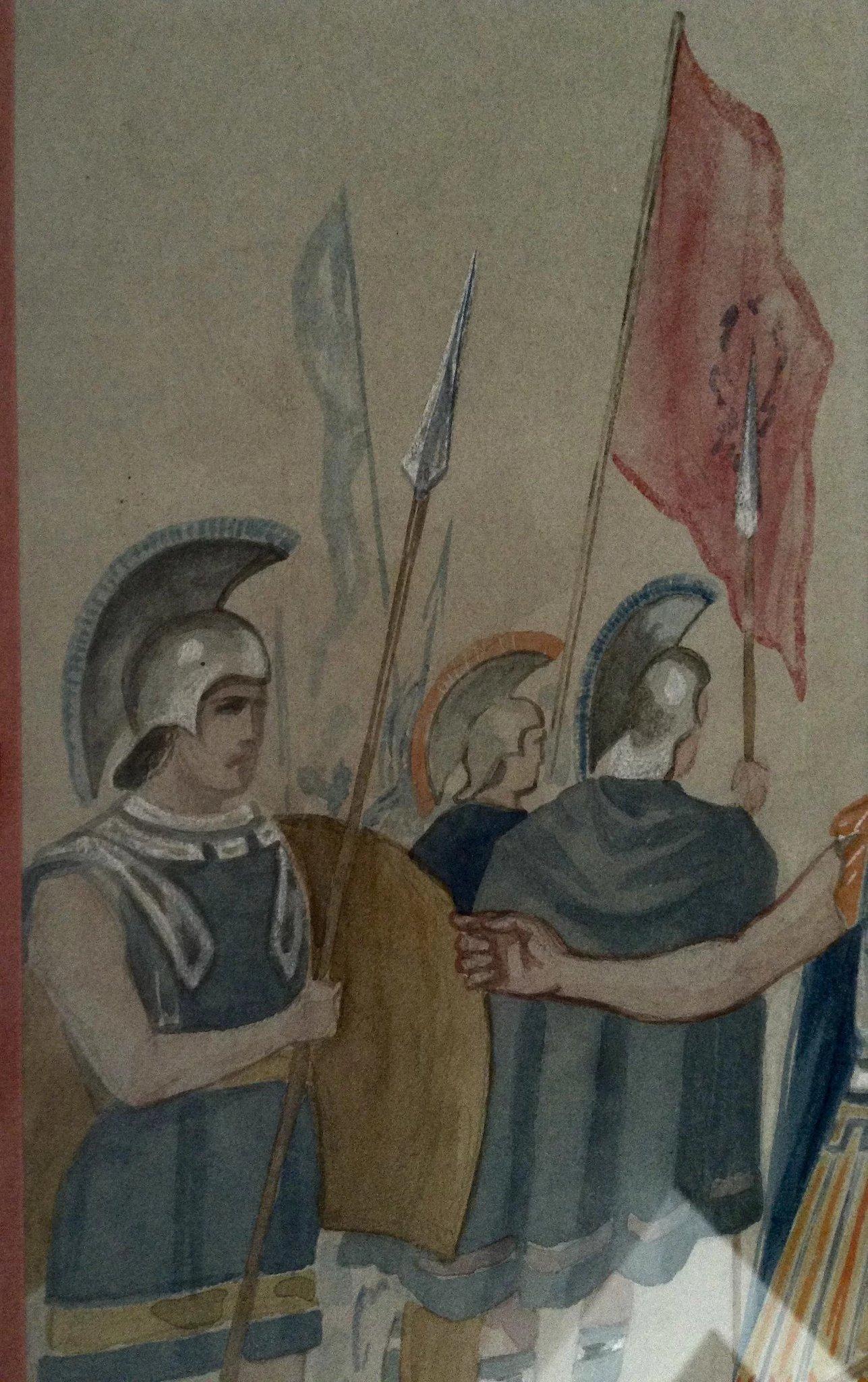 1287x2048 Centurion Roman Soldier Antique Watercolor Painting 1898