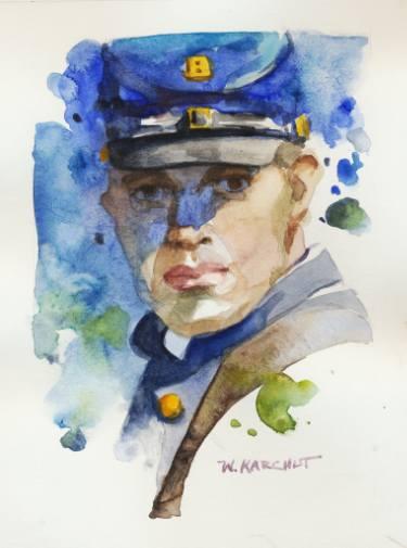 375x505 Civil War Soldier Painting By Wes Karchut Saatchi Art
