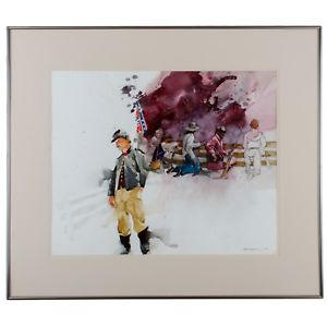 300x300 Confederate Soldier Watercolor Painting Is Hell By Troy