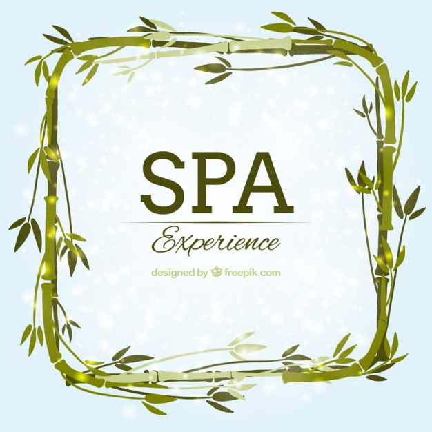 626x626 Watercolor Spa Background With Bamboo Frame Vector Free Download