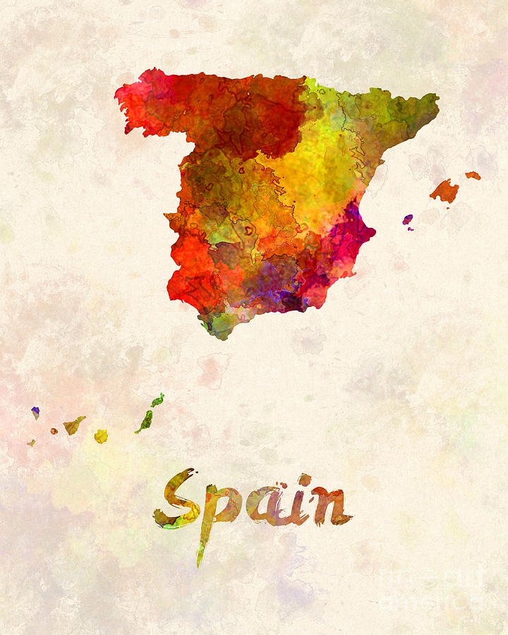 720x900 Spain In Watercolor Painting By Pablo Romero