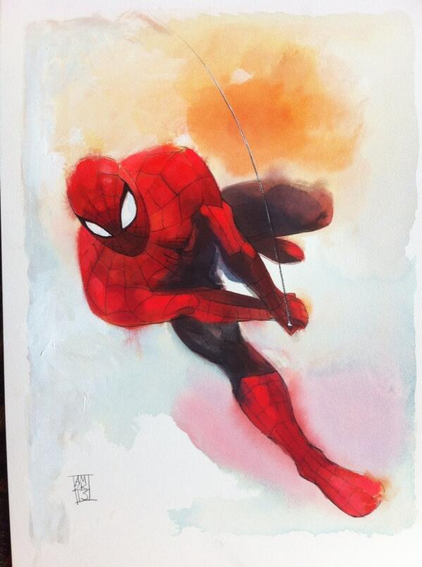 Spiderman Watercolor